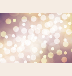 Abstract white bokeh on purple yellow background vector
