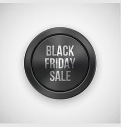 Black fiday sale badge vector