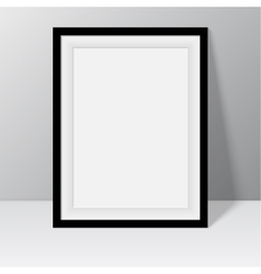 Black frame for paintings or photographs vector image vector image