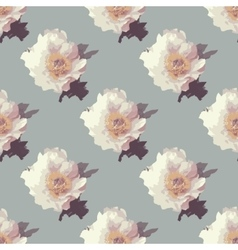 Bouquet of Peony flowers with leaves vector image
