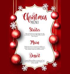 christmas menu design background vector image