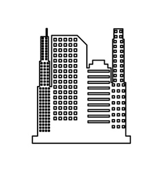 cityscape isolated icon design vector image vector image