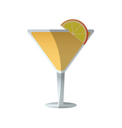 Cocktail drink icon vector