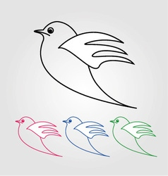 Dove- the symbol of peace vector image