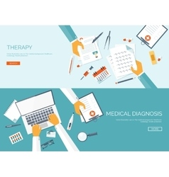 Flat medical background vector