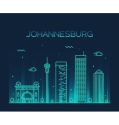 Johannesburg skyline linear vector