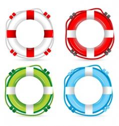 Lifebuoy signs vector