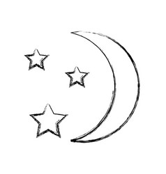 Moon with stars vector
