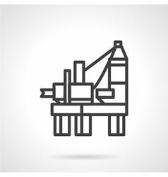 Oil derrick platform line icon vector