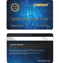 Plastic card with abstract digital background vector