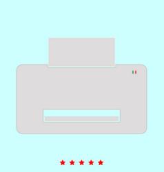 printer set it is color icon vector image vector image