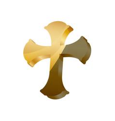 saint cross christianity vector image vector image