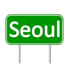Seoul road sign vector