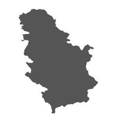 Serbia map black icon on white background vector