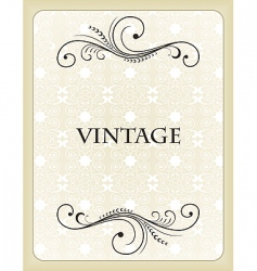 vintage background card vector image