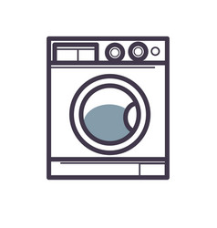 washing machine front view close-up isolated on vector image