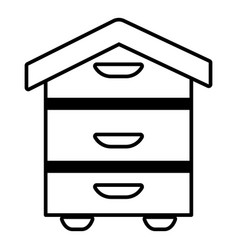 wood beehive icon outline style vector image