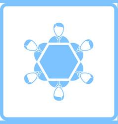 Conversation table icon vector
