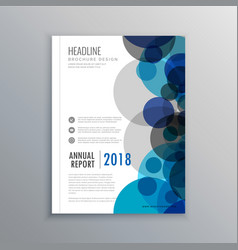 Creative brochure flyer design with abstract vector