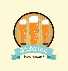 Beer drink oktoberfest design vector