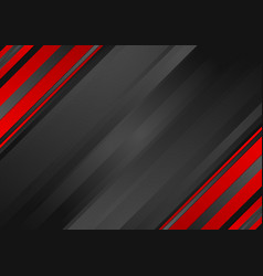 Abstract red black striped corporate background vector