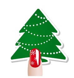Christmas nail card vector