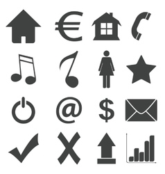 Simple black icon set 4 vector