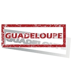 Guadeloupe outlined stamp vector