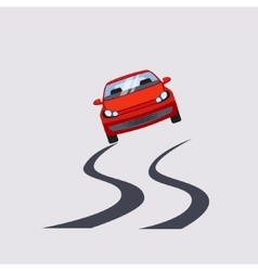 Car Insurance and Unsafe Drive Risk vector image