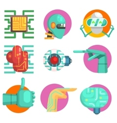 Robotic Technology Set vector image