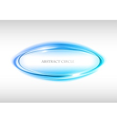 abstract circle on white blue vector image vector image