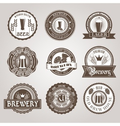 Beer labels set black vector image