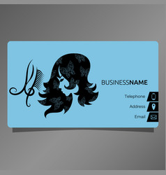 Business card for beauty salon concept vector