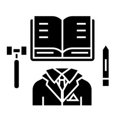 business law - open book icon vector image vector image