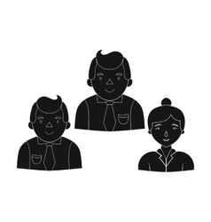 Business partners icon in black style isolated on vector image vector image
