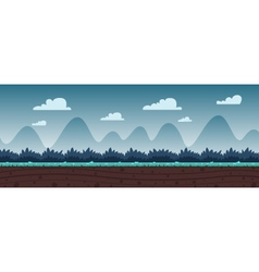 Cartoon game background vector