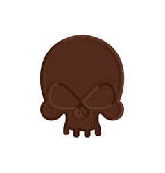 Chocolate skull sweet skeleton head scary vector