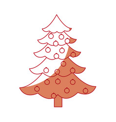 Christmas tree ball decorations festive party vector