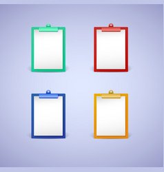Clipboard with white sheet of paper vector image
