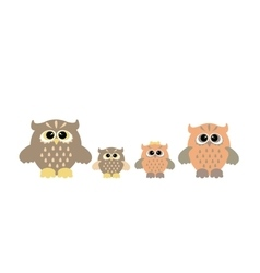 Cute owl family vector image vector image