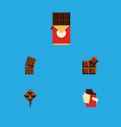 flat icon bitter set of shaped box cocoa vector image vector image