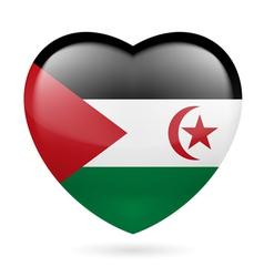 Heart icon of sahrawi arab democratic republic vector