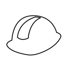 Helmet construction isolated icon vector