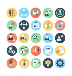 Human Resources Colored Icons 1 vector image vector image