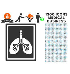 lungs fluorography icon with 1300 medical business vector image