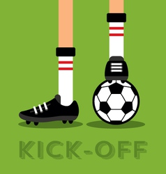 Match Kick Off vector image