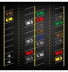 Parking lot top view vector image vector image