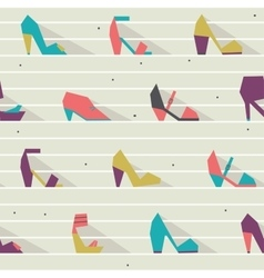Seamless with beautiful heels vector image vector image