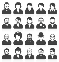 Simple people avatars and userpics vector image vector image