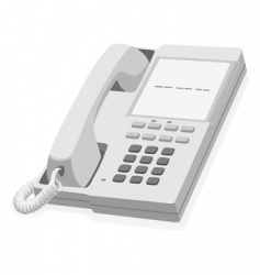 stationary phone vector image vector image